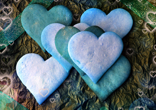 Valentine's Day Blue Hearts