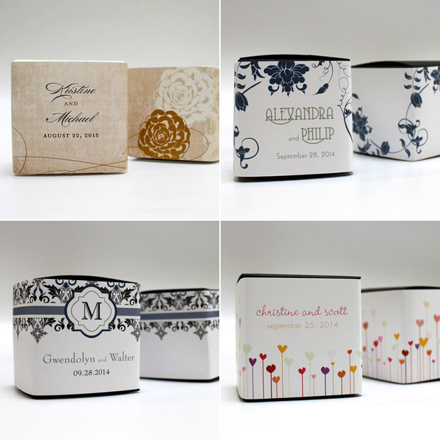 Wedding Favour Box Wraps at the Confetti Shop