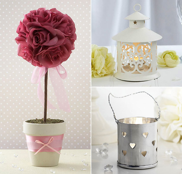 Table Decoration Topiary Trees Lanterns & Candle Holders