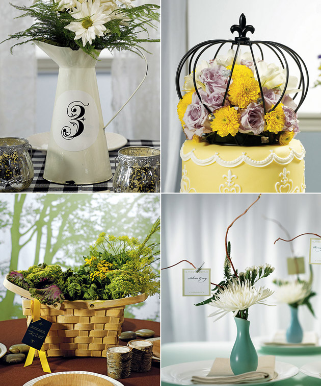 Spring flower centrepieces