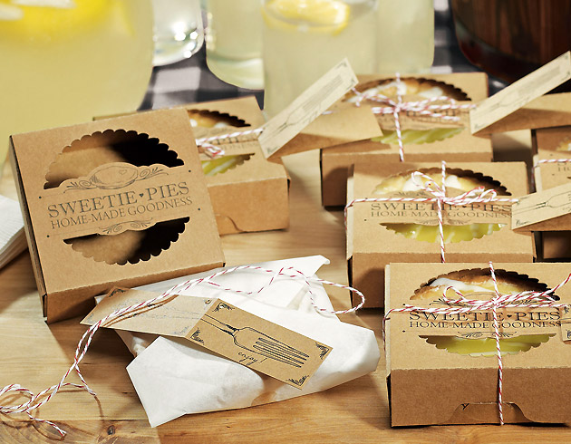 Mini Pie Cake Favour Packaging Kits