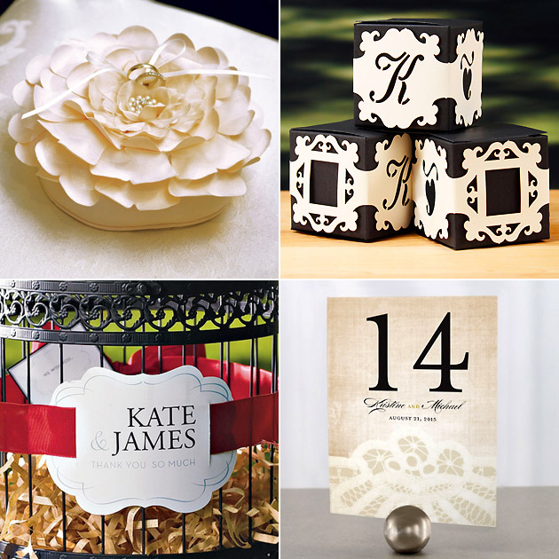 Vintage Ring Cushion Favour Box Wraps Table Numbers Vintage Name Tags