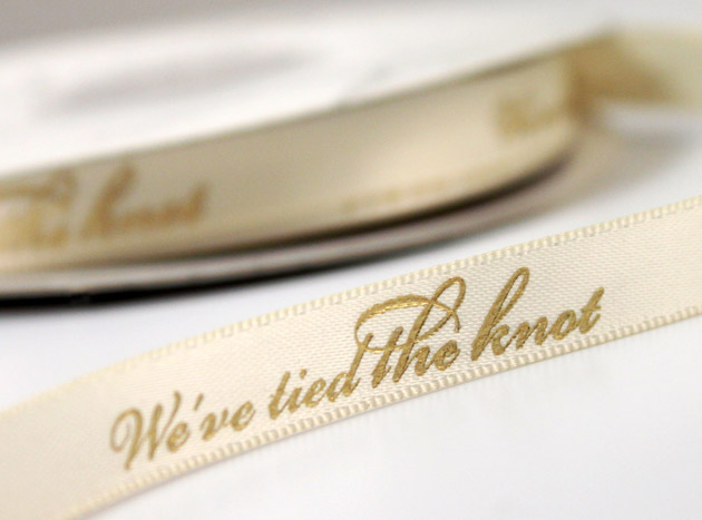 Vintage Style Personalised Wedding Ribbon