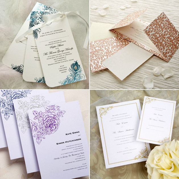 Vintage Style Wedding Stationery