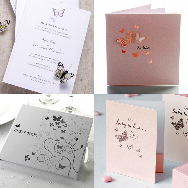 Butterfly Stationery Guest Book