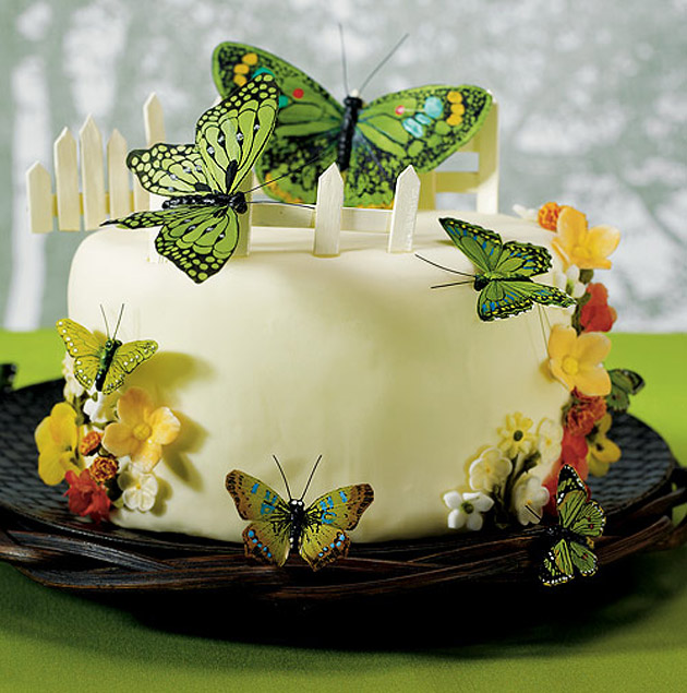 Butterfly cake decoration set by Confetti