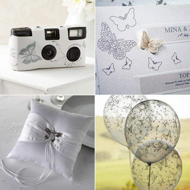 Butterfly Disposable Camera Table Plan Balloons Ring Cushion