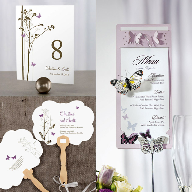 Butterfly Fans Stationery Holders Table Numbers