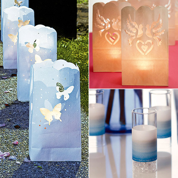 Paper lanterns and candles