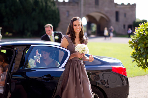 Bridesmaids Arriving At Ceremony