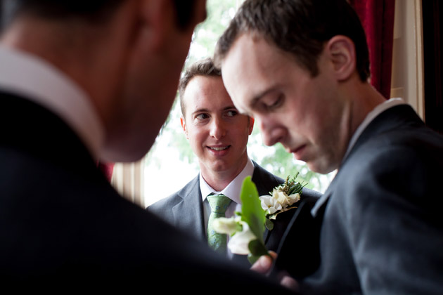 Groom With Two Best Men