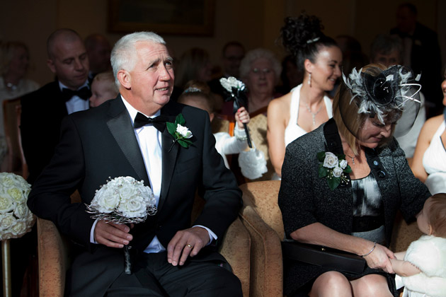 Father and Mother of the Bride at Ceremony