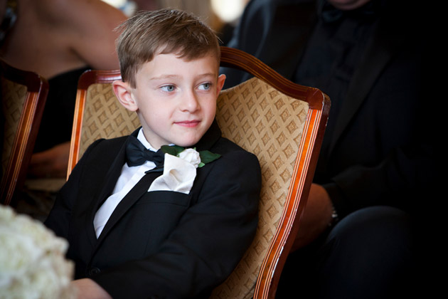 Pageboy at the Ceremony
