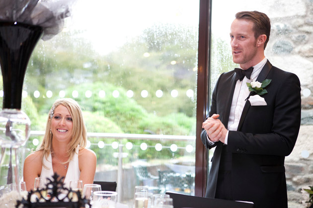 The groom making his wedding speech | Confetti.co.uk