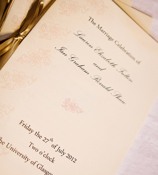 Gold & Cream Wedding Invitations