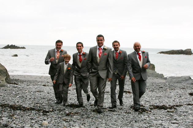 Groom and Groomsmen Get Ready