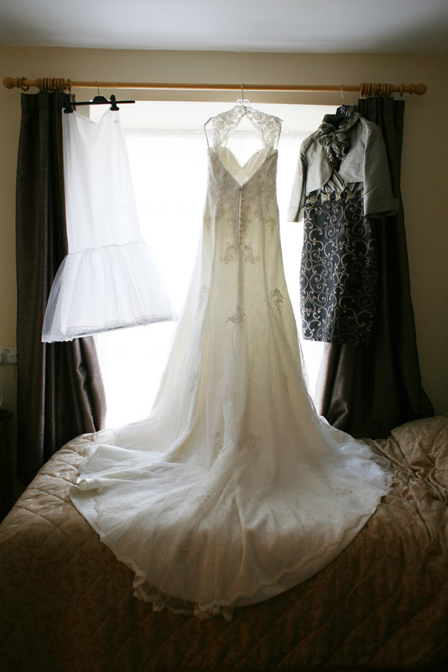 Bride's Gown on Hanger