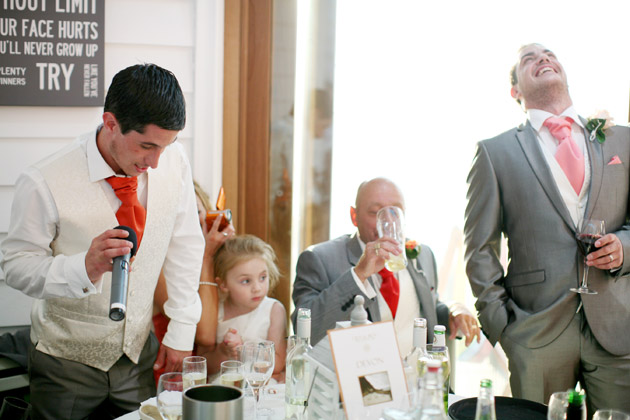 The best man making his wedding speech | Confetti.co.uk