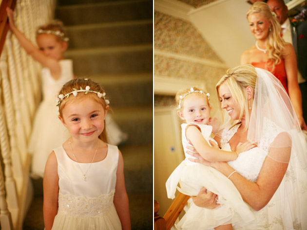 Bride and Flower Girls Going to Ceremony