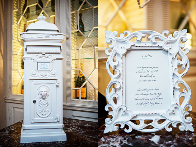 White Wedding Post Box And Framed Wish Tree Poem