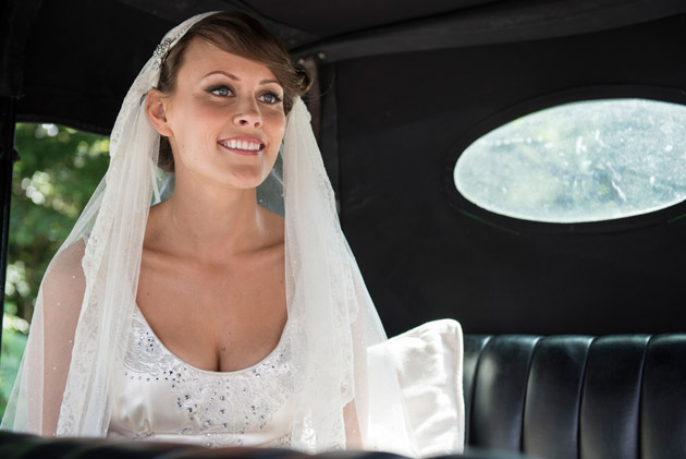Bride Waiting in Car