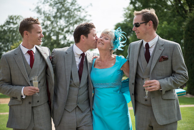 Groom With Mother and Groomsmen