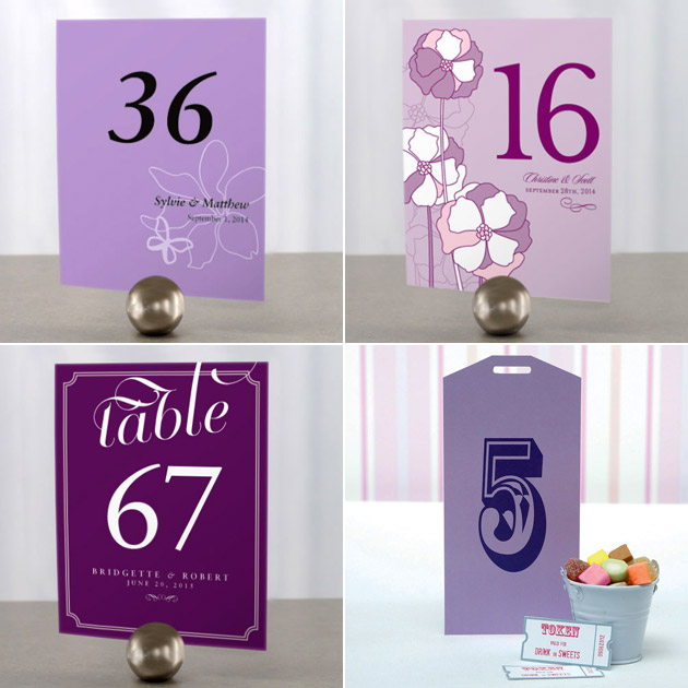 Purple Table Numbers