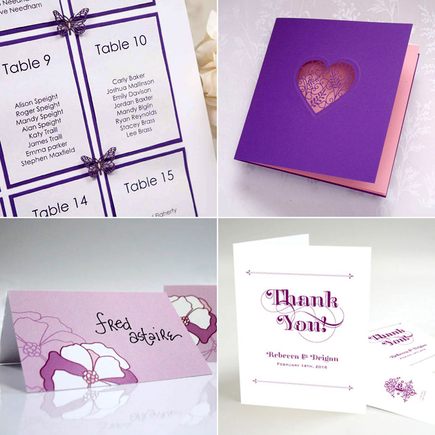 Purple Table Plan and Stationery