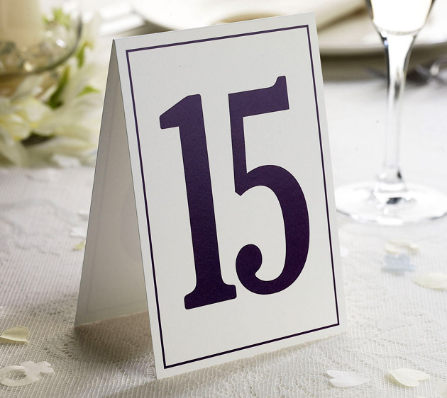 Elegant Border Wedding Table Numbers