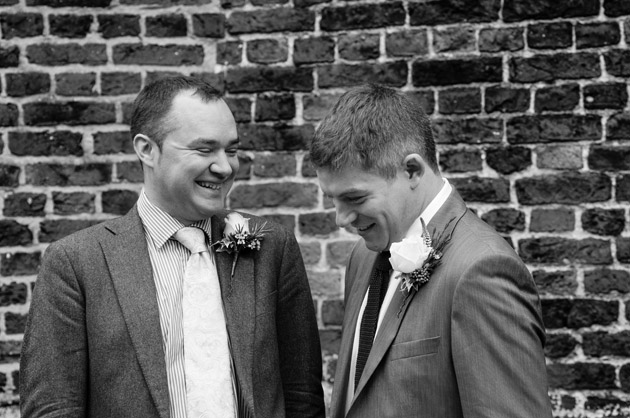 Groom and Best Man Waiting for Bride