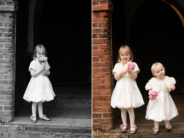 Flower Girls Before Ceremony