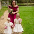 Bridesmaid and Flower Girls Going to Ceremony