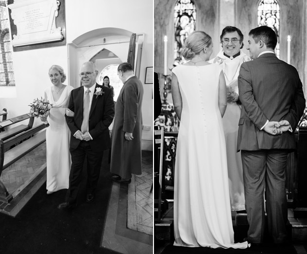Bride Arriving in Church with Father