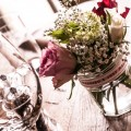 Flowers in Jars Table Centrepieces