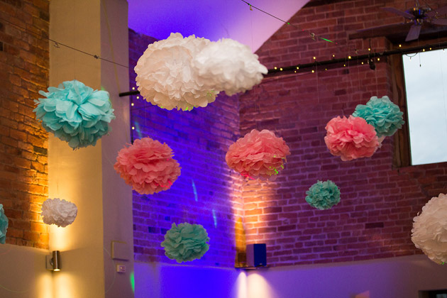 DIY Pom Poms Made by Bride