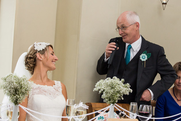 The Father of the Bride speech at Claire and Cona's Real Wedding | Confetti.co.uk