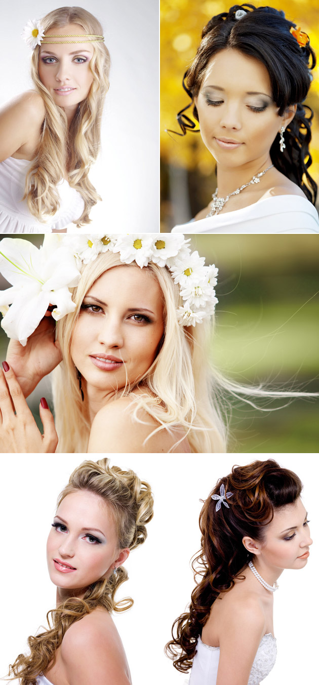 Bridal Wedding Hair Down Styles