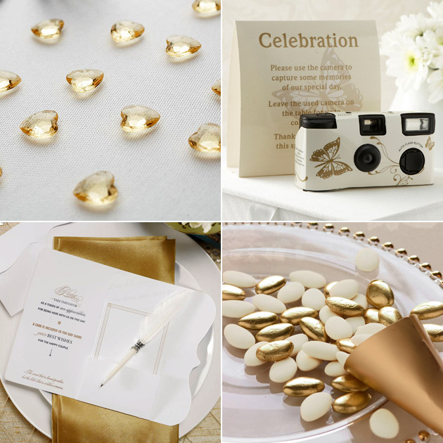 Oh So Elegant Ivory Amp Gold Wedding Theme Confetti Co Uk