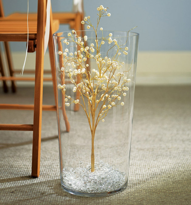 Gold And Pearl Centerpiece : Oh so elegant ivory gold wedding theme confetti