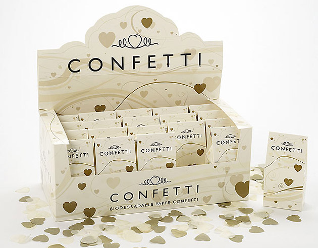 Ivory Biodegradeable Throwing Confetti Pack
