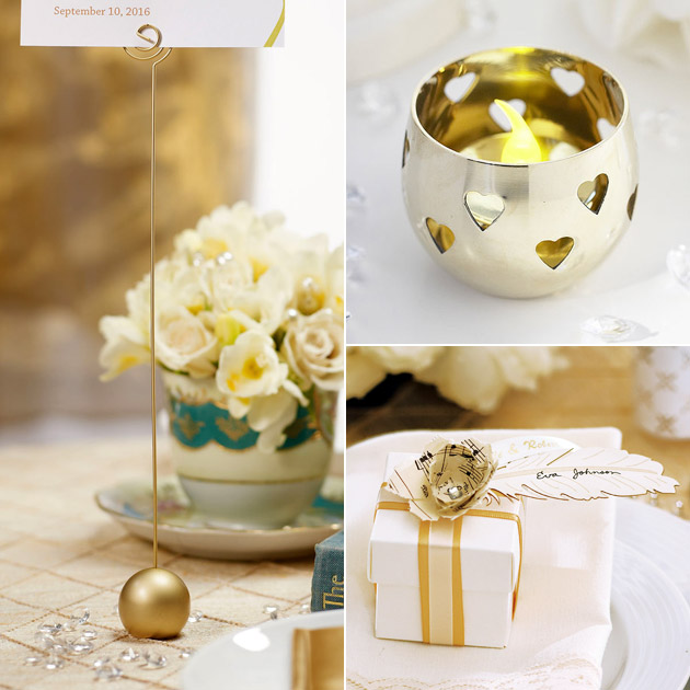 Oh So Elegant Ivory amp Gold Wedding Theme Confetticouk