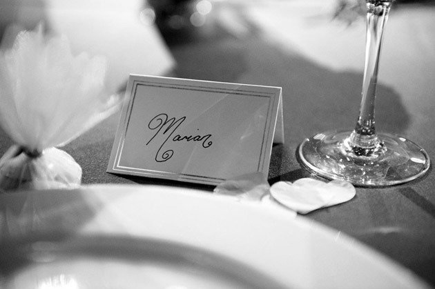 Bride Place Card at Top Table