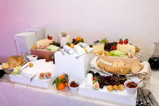 Cheese and Fruit Reception Buffet
