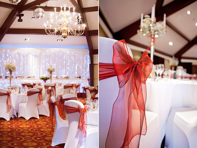 Reception Room and Orange Chair Sashes