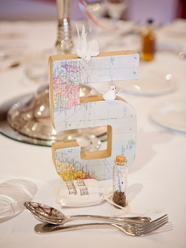 Wedding Reception Travel Theme Table Numbers