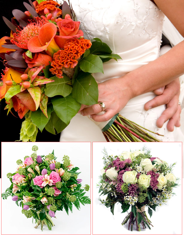 Loose Round Wedding Bouquets by Todich Floral Design