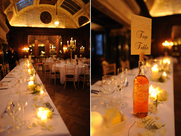 Orange themed wedding decorations