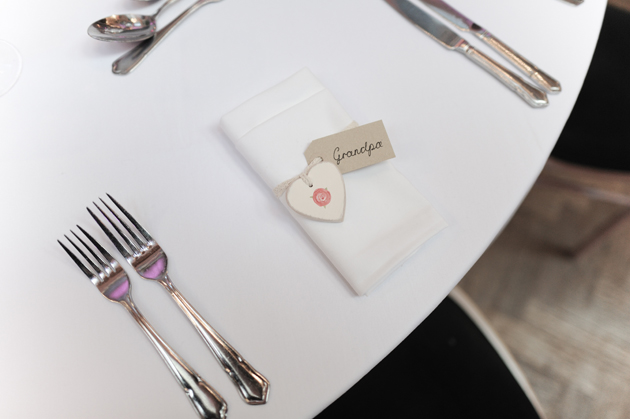 Heart Wedding Place Cards