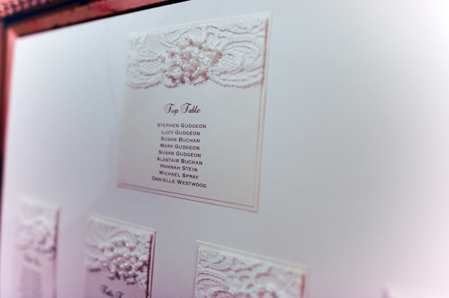 Pearls and Lace Table Plan