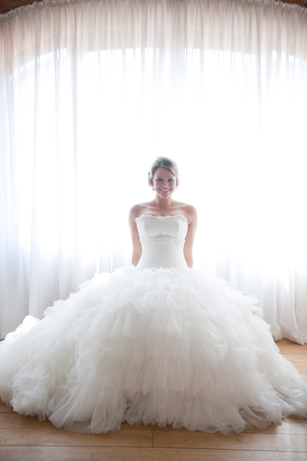 Bride in Maggie Sottero Gown